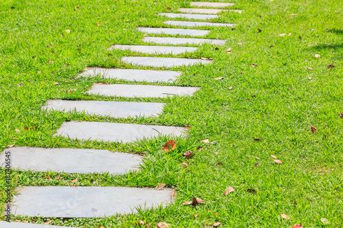 Aluminium Bamboe Park grass road