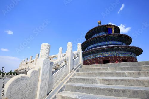 Deurstickers Peking The temple of heaven in Beijing, China