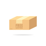 Free shipping package box - 187420172