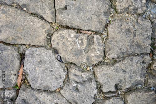沖縄の石垣のテクスチャ