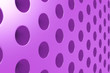 Plain violet surface with cylindrical holes