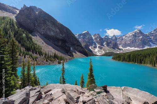 Foto op Plexiglas Canada Rocky Mountains - Moraine lake in Banff National Park of Canada.