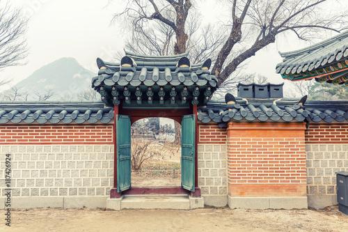 Deurstickers Seoel Beautiful park in Korea in autumn