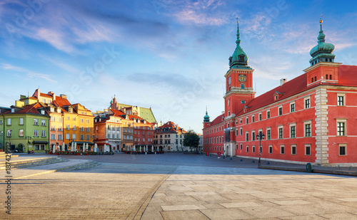 Fototapety, obrazy : Panorama of Warsaw old town, Poland