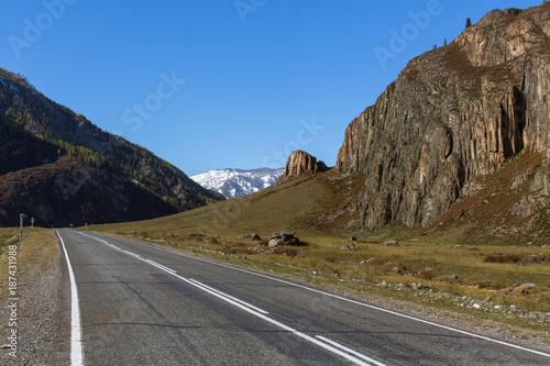 Foto Murales Chuya Highway in Altay Mountains, Russia.