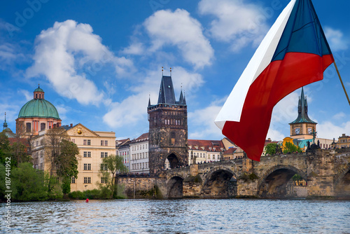 Foto op Aluminium Praag Prague is the capital of the Czech Republic, the European state. Historical sights.