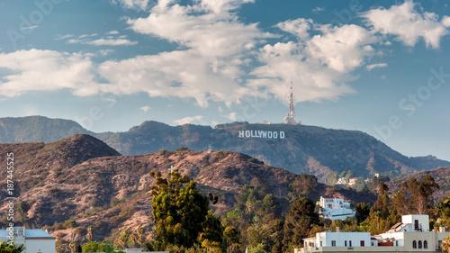 Leinwanddruck Bild Hollywood Hills in Los Angeles, California.