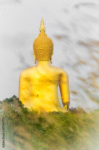 Tuinposter Boeddha Big gold buddha at Aang-thong province, Thailand