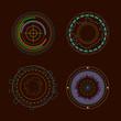 Circle HUD interface elements. Vector illustration.