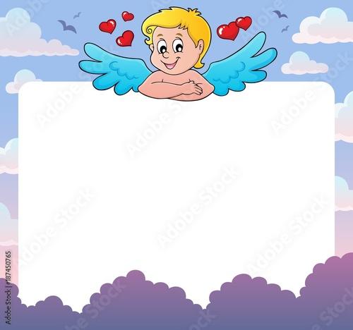 Deurstickers Voor kinderen Cupid thematics frame 2