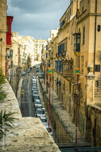 Traditional Maltese Architecture Malta Buildings Traditional Houses and Streets Tourism Concept Travel Background Exotic destinations - 187458927