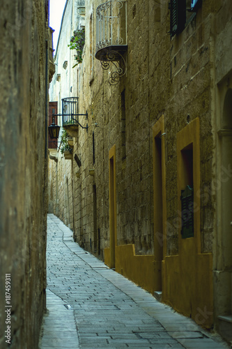 Traditional Maltese Architecture Malta Buildings Traditional Houses and Streets Tourism Concept Travel Background Exotic destinations - 187459311