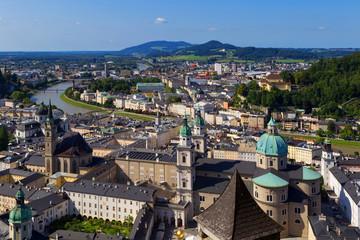Panorama of the historic city of Salzburg
