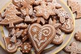 Gingerbread cookies. - 187485539