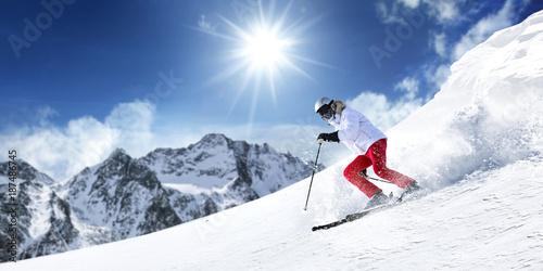 Foto Murales winter skie
