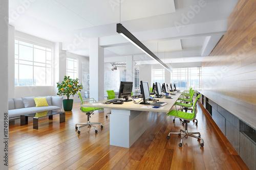 Poster Modern computer office interior