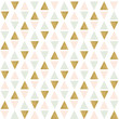 Abstract seamless geometric pattern. Geometry gold, pink and green triangles texture.
