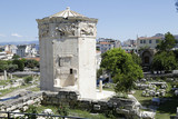 Tower of Winds and remains of Roman Agora in the old town of Athens, Greece - 187505131