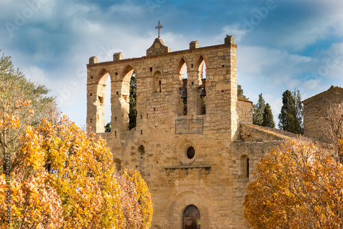 Foto Murales The town of Peratallada in the province of Girona