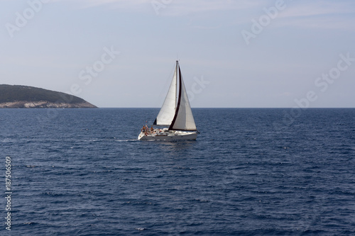 Fotobehang Zeilen Yacht