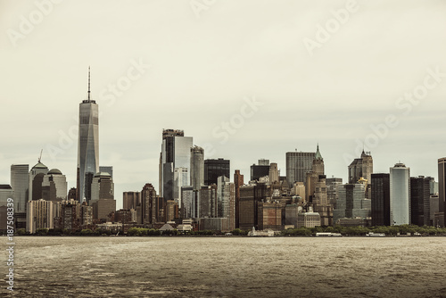 Skyline of New York City. - 187508339
