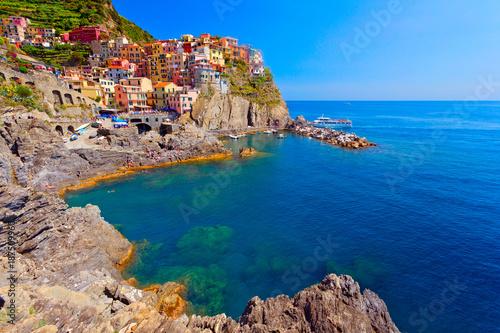 Foto op Plexiglas Liguria Manarola, Cinque Terre, Italien