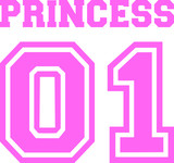Princess number one pink