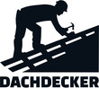Roofer at work job title german