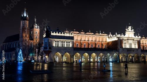 Papiers peints Cracovie Kraków rynek wieczorem