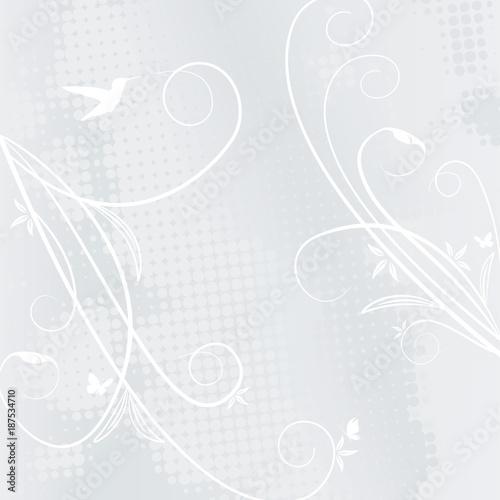 Keuken foto achterwand Vlinders in Grunge Ornament floral Hintergrund