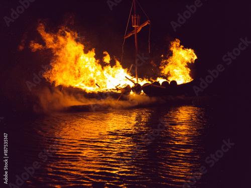 Fire Festival Shetland Islands