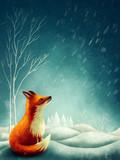 Little red fox in winter