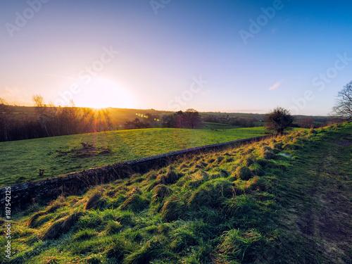 Fotobehang Zwart winter countryside morning,Northern Ireland