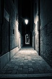 An empty alley somewhere in the city of Venice, Italy. - 187547154