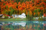 Danville Vermont church from Joes pond - 187557930