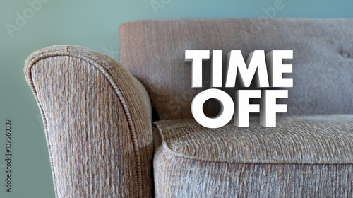 Time Off Relax Vacation Day Couch Break Rest 3d Illustration - 187560337