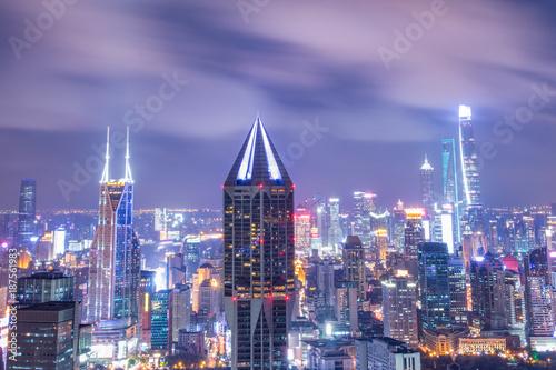 Foto Murales cityscape of modern city