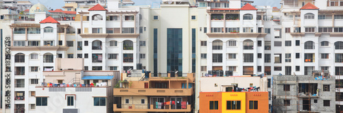 Foto Murales Tall apartment buildings in Bangalore city India