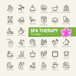 SPA therapy massage cosmetics elements - minimal thin line web icon set. Outline icons collection. Simple vector illustration.