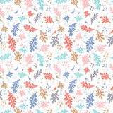 Colorful vector floral pattern - 187564724