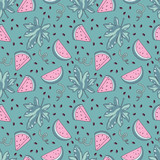 Watermelon vector seamless pattern - 187564739
