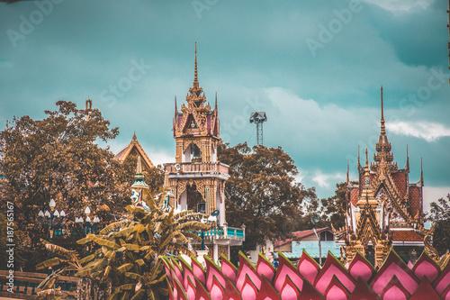 Aluminium Moskou Wat Plai Laem temple in koh Samui, Thailand