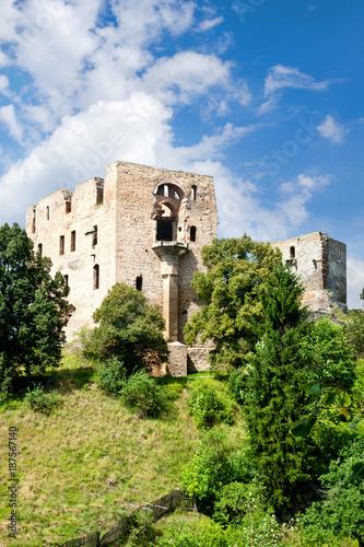 gothic castle Krakovec from 1383 near Rakovnik, Czech republic Poster