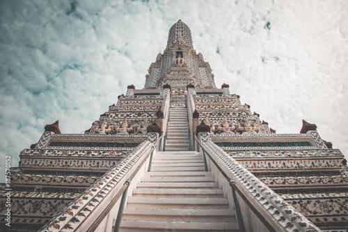 In de dag Spoorlijn Wat Arun in Bangkok Thailand