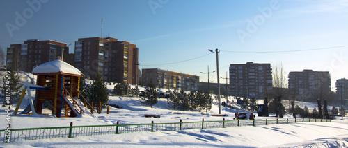 urban landscape of the city Osinniki