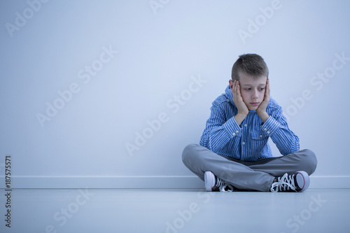 Depressed boy with Asperger syndrome