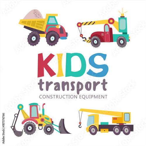 Fototapeta Kids transport collection