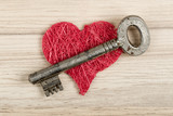 Love Key to my heart, symbol of love