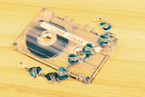 Audio cassette tape with love songs