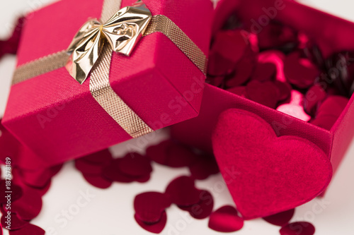 Valentine love gift box
